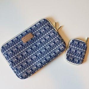 Handbags - NWOT Blue elephant Laptop case and accessory pouch